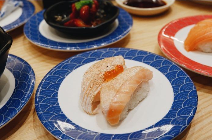 Aburi Salmon Belly Sushi Tom Sushi