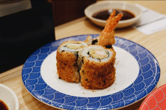 Spicy Ebi Tempura Floss Maki Tom Sushi